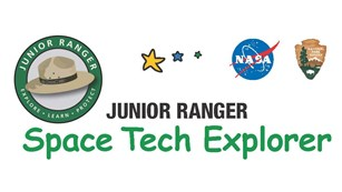 Space Tech Explorer with graphics of National Park Service Junior Ranger patch, NASA and NPS logos