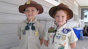 image of two young junior rangers