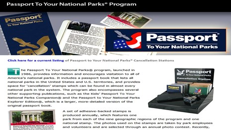 NPS Passport Stamp Program