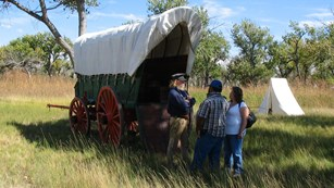 Interpreter gives accounts of the 1840s Santa Fe Trail