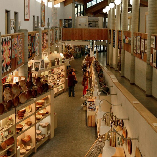 aerial view of gallery in Folk Art Center