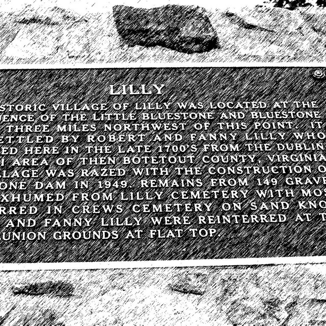 sign commemorating people of Lilly