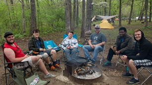 Camping in the frontcountry at Buffalo National River