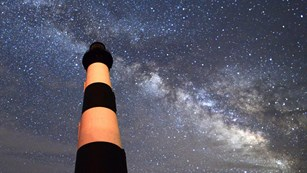 The Milky Way visible at Bodie Island Lighthouse (©James Jenkins)