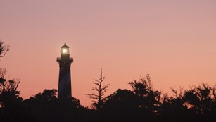 The Cape Hatteras Lighthouse at Dawn
