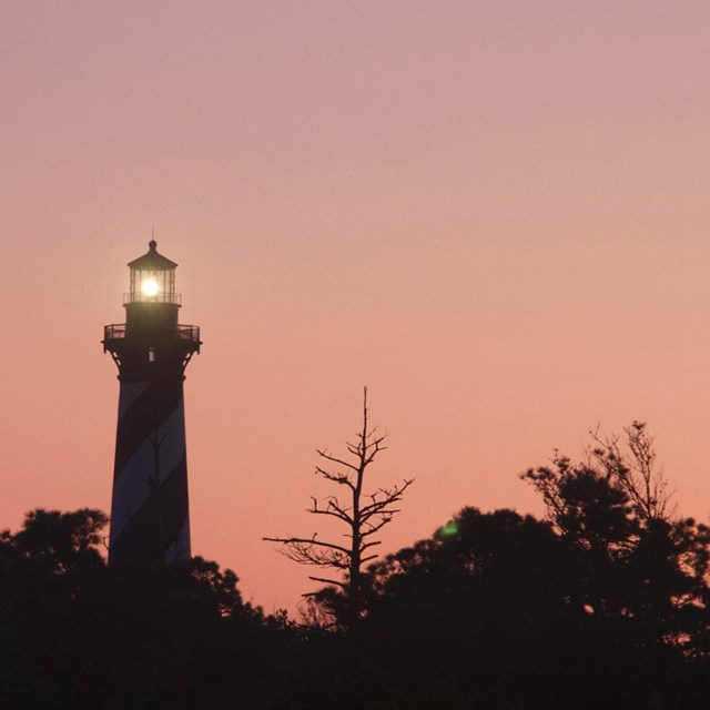 Cape Hatteras Lighthouse at Dusk