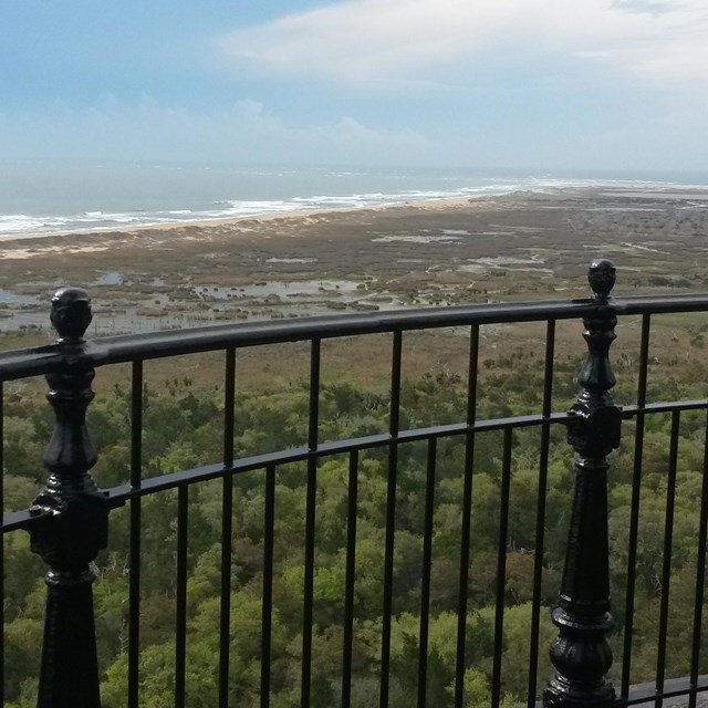 View from atop the Cape Hatteras Lighthouse