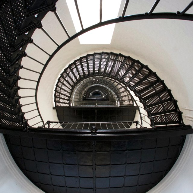Staircase inside Cape Hatteras Lighthouse