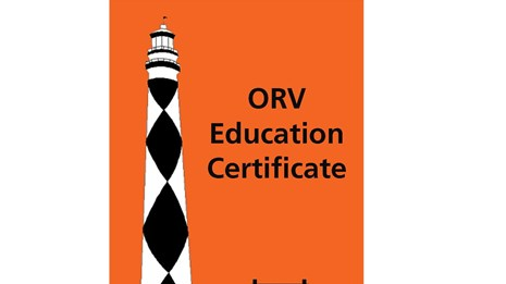 ORV Education Certificate decal sample