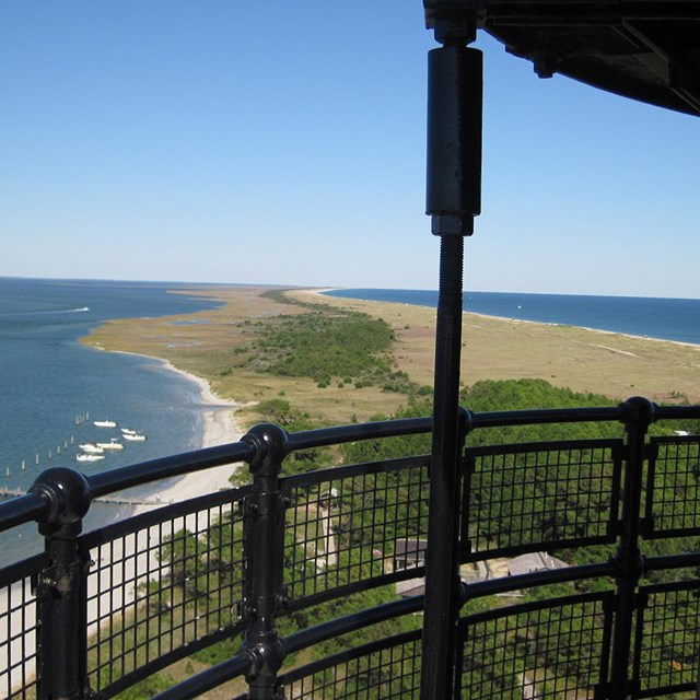 View from the top of Cape Lookout Lighthouse
