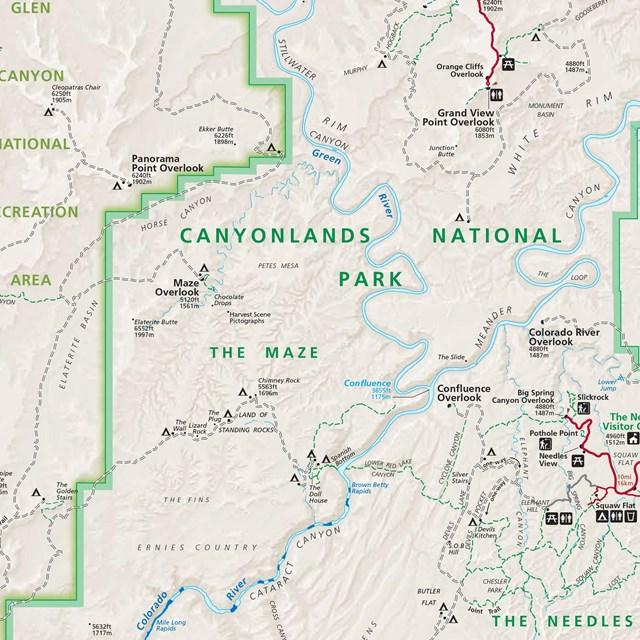 Indian Creek Utah Map.Maps Canyonlands National Park U S National Park Service