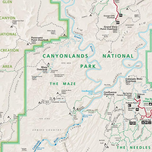 a map of Canyonlands National Park