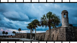 image of castillo de san marcos with film type frame