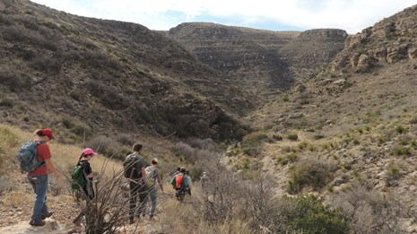 Hikers in Rattlesnake Canyon