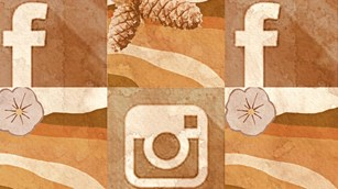 App and social media icons.