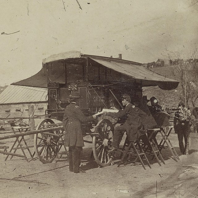 An army headquarters wagon in Chattanooga
