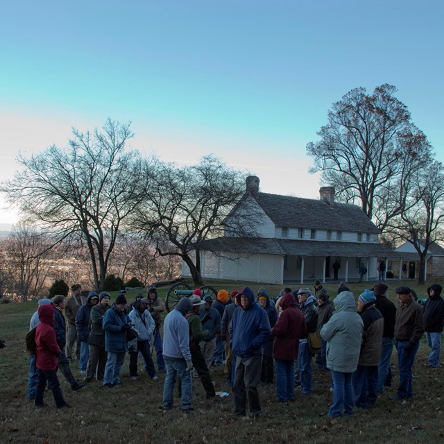 Photo of visitors touring Cravens House on Lookout Mountain