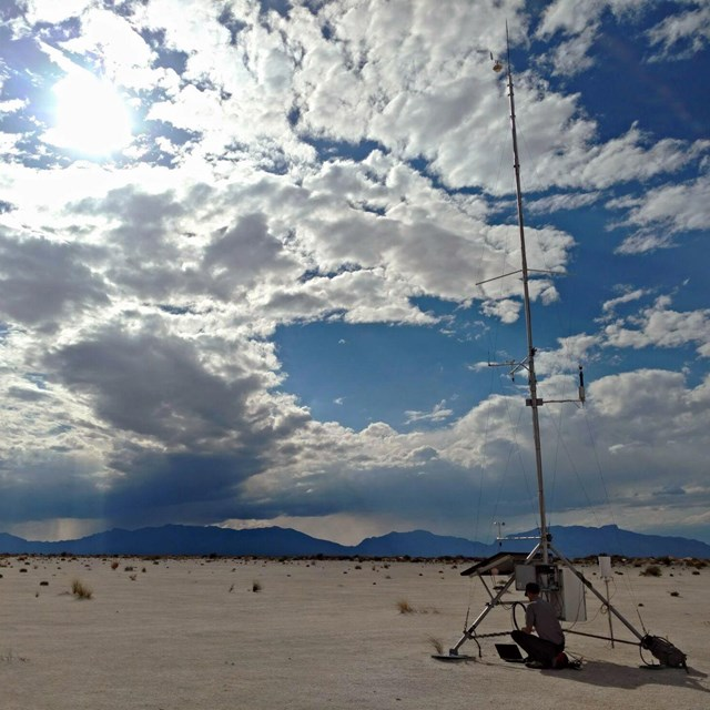 Weather station at White Sands National Monument
