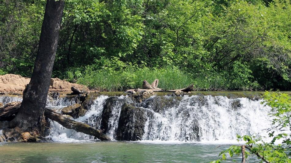 Falls Creek Oklahoma Map.Chickasaw National Recreation Area U S National Park Service