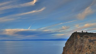 Coastal cliff at sunset with high clouds. ©Tim Hauf, timhaufphotography.com