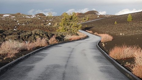 The Loop Road with patches of snow