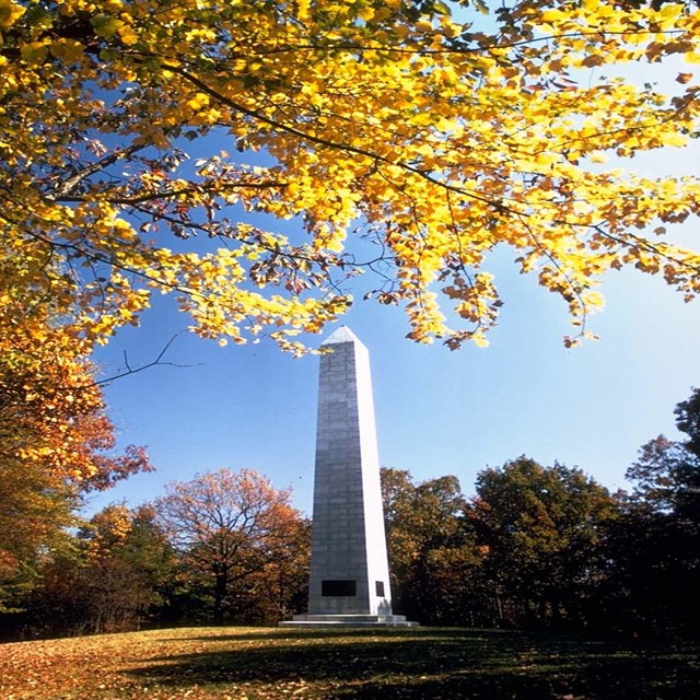 Monument at Kings Mountain National Military Park.