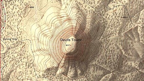 Topographic Map of Devils Tower