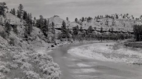 Historic Photo of the Belle Fourche River