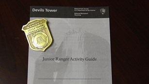 A Junior Ranger booklet, badge and patch