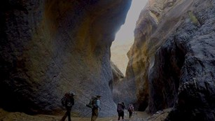 Backpackers in Marble Canyon