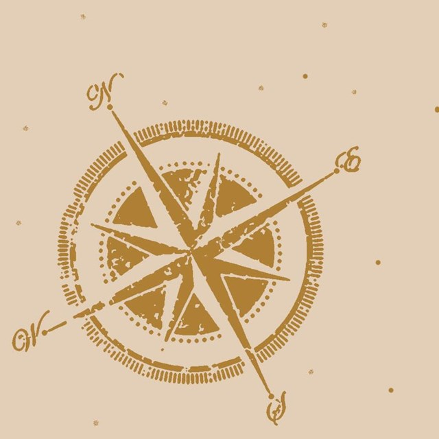 Tan sketch of a compass
