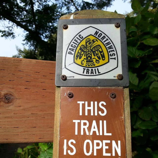 Trailhead sign at Fort Ebey