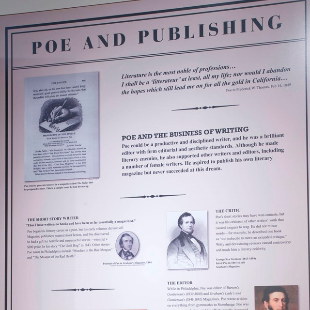 Color photo of an exhibit panel with the words