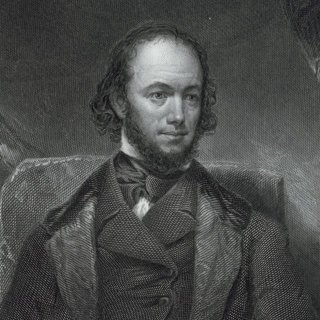 Black and white engraved portrait of Rufus Griswold.