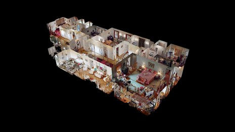A 3D cut away view of the interior of the Eisenhower Home.