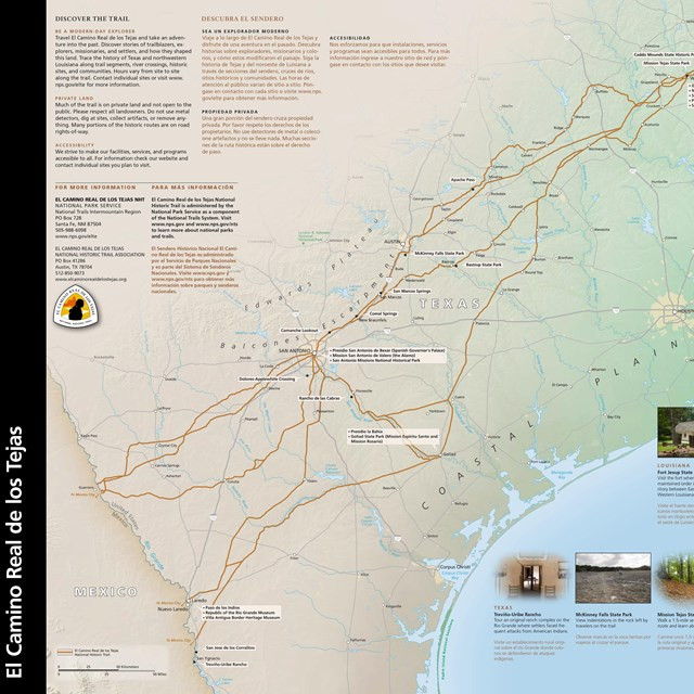 A picture of the Trail brochure publication, with text and a map.