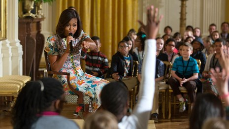 Michelle Obama answers kids questions.