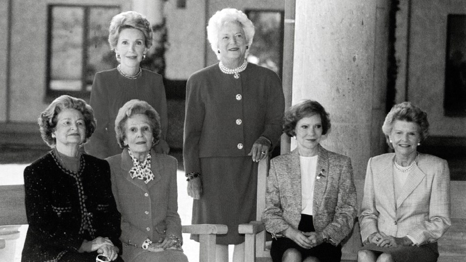 Former first ladies Johnson, Nixon, Carter, Ford, Reagan, and Bush.