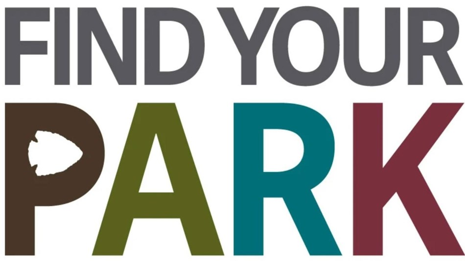 white background with text that says Find Your Park with link to online NPS park content