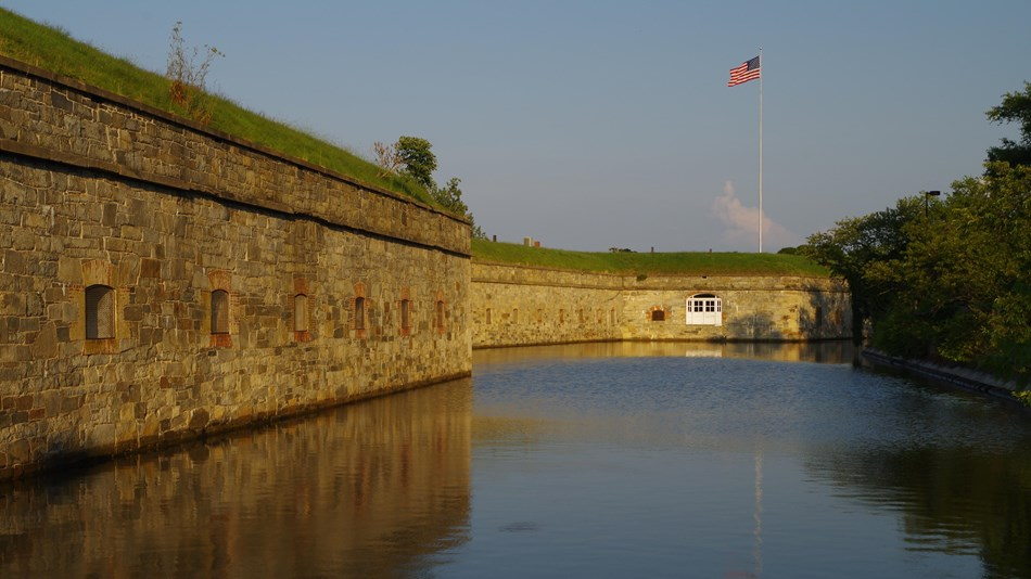 Fort moat and flagstaff bastion