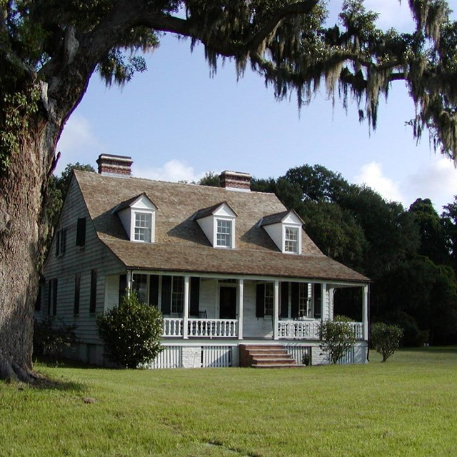 Exterior view of the House at Snee Farm, now the park's visitor center and museum.
