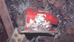 The red and white cockpit voice recorder was recovered during the FBI investigation.