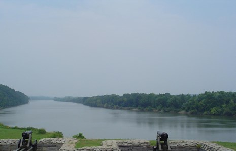The River Batteries overlooking the Cumberland River.