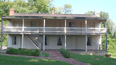 On the banks of the historic Cumberland River in Dover, Tennessee, is the Dover Hotel.
