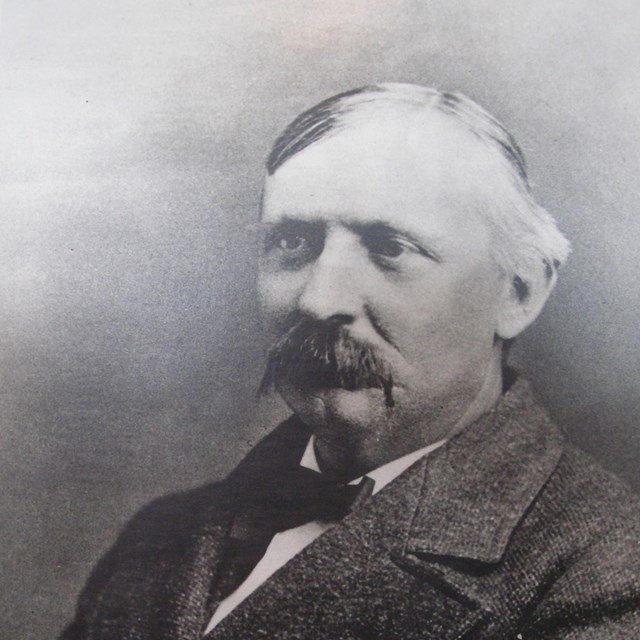 Black & white photograph of Theodore Conkey