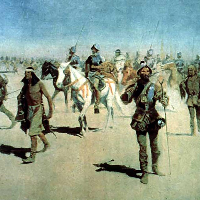 Remington's painting of Coronado's expedition.