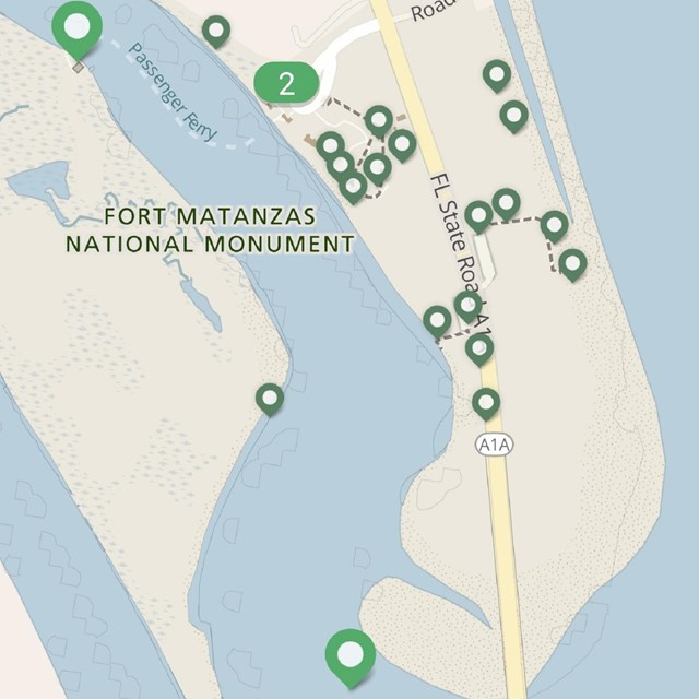 Map of park on park app.