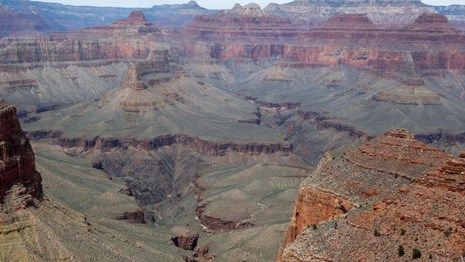 view of rock layers in grand canyon