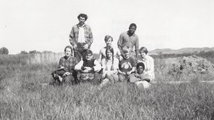 Archeological field crew for Fort Union's 1969-1970 excavations.