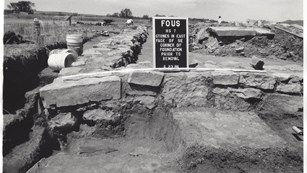 The Bourgeois House excavations in 1986.